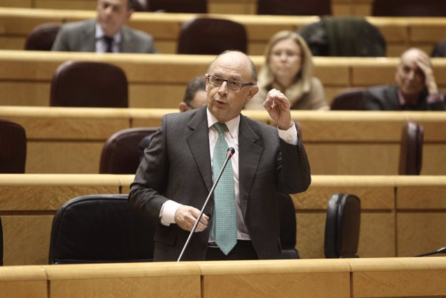 Cristóbal Montoro, en el Senado