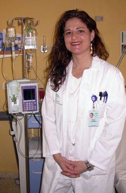 En la imagen, la enfermera Eva Pérez González.