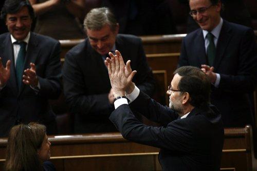 Mariano Rajoy, ovacionado en el Debate del Estado de la Nación