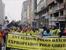 Manifestación De Afectados Por Preferentes En A Coruña