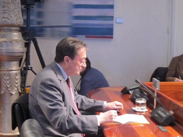 Sariego, durante su declaración en la Comisión.