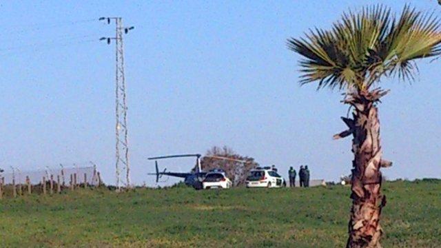 El helicóptero interceptado.