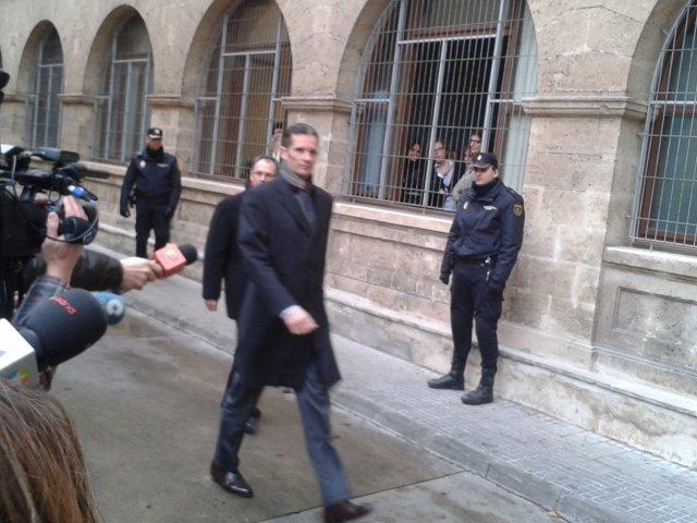 Iñaki Urdangarin a su llegada a los Juzgados de Palma