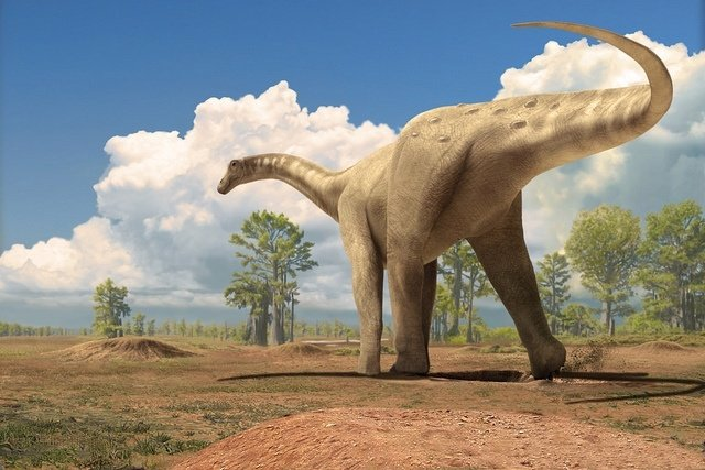 Titanosaurio saurópodo