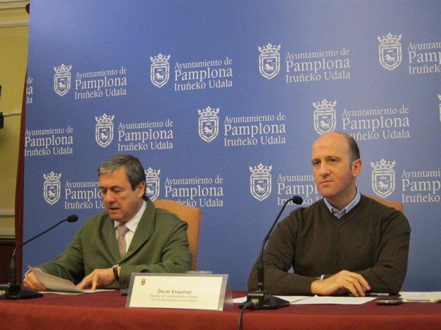 José Javier López y Óscar Esquíroz.
