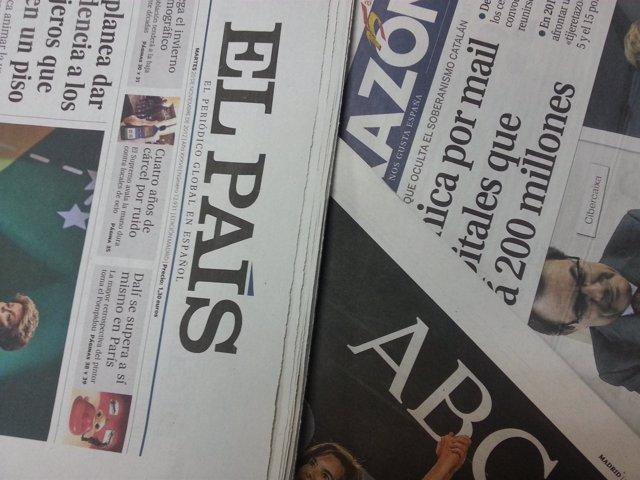 Foto de recurso de diarios diario periódicos periódico El País ABC La Razón