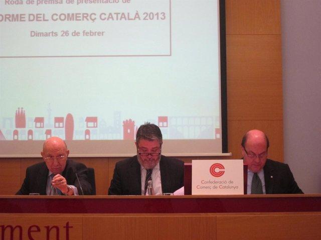 El pte. De la CCC, Pere Llorens, y el secr. Gral., Miquel Àngel Fraile