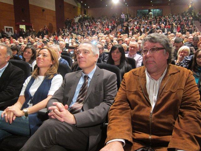 Carme Chacón, Pere Navarro y Antonio Balmón