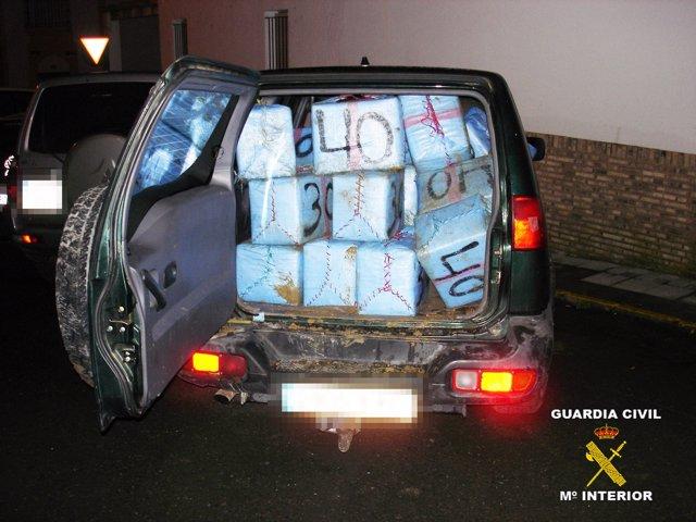 Droga incautada en Cartaya (Huelva).