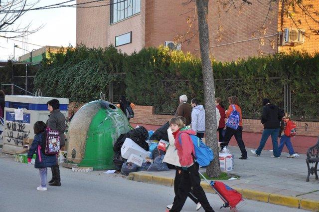 Fotografía de archivo de la huelga de El Coronil.