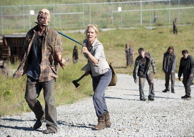Laurie Holden en 'The Walking Dead'