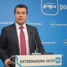 """El PP extremeño pide explicaciones a Vara sobre """"por que no denunció en su momento"""" las """"presiones"""" de Urdangarín"""