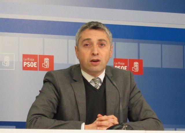 El secretario de Organización del PSOE de La Rioja, Francisco Ocón