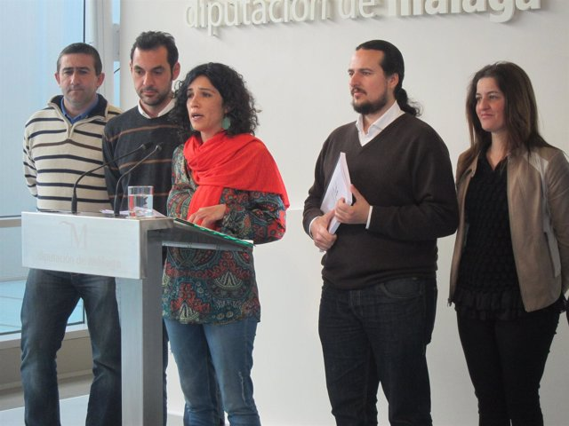 Toni Morillas y el grupo de Iu en la Diputación