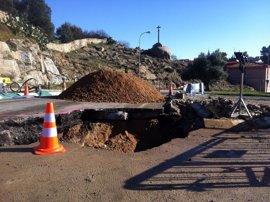 Ayuntamiento de Toledo y Tagus siguen trabajando en la renovación del tramo de tubería de agua que abastece al Casco