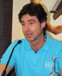 Miki Oca en la presentación Campeonatos del Mundo de Natación 2013