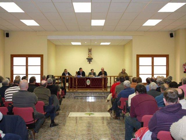 Xavier de Pedro en la Asamblea de Usuarios del Jalón