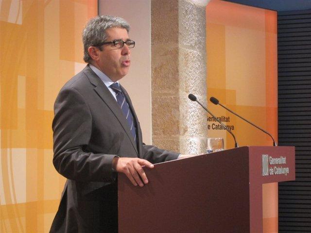 El conseller Francesc Homs, tras el Consell Executiu