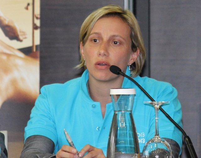 Ana Montero presentación Campeonato Mundial de Natación Barcelona 2013