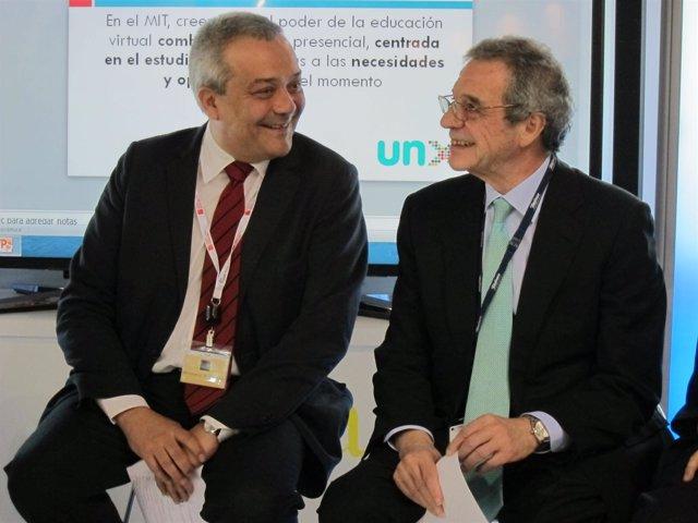 Victor Calvo-Sotelo y César Alierta, en el MWC