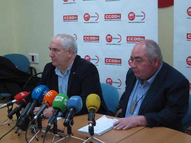 Francisco Carbonero (CCOO-A) y Manuel Pastrana (UGT-A)