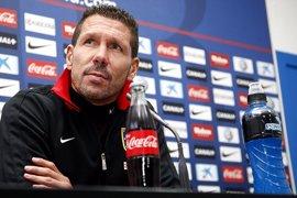"""Fútbol/Copa.- Simeone: """"El que logre dominar el medio tendrá más opciones"""""""