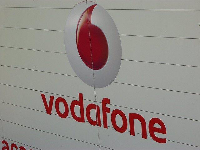 Fotografía del logotipo de Vodafone