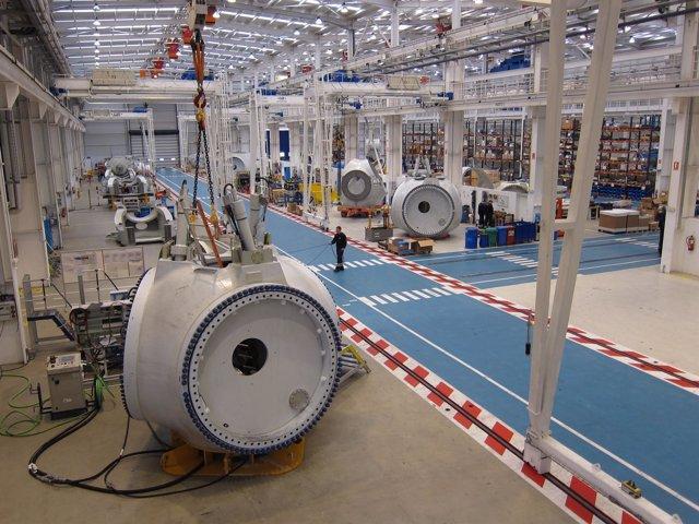Fábrica de aerogeneradores de Acciona