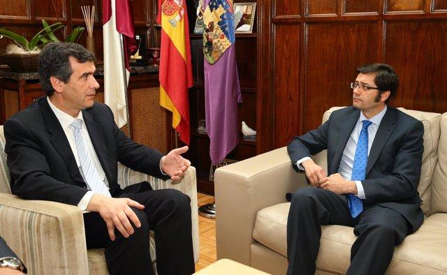 Romaní con el alcalde de Guadalajara