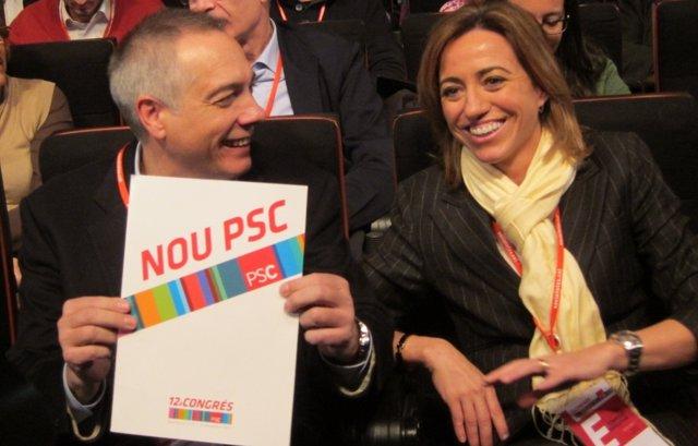 Pere Navarro Y Carme Chacón (PSC)
