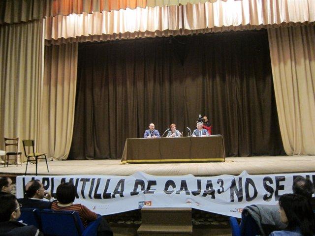Asamblea de trabajadores de Caja3.