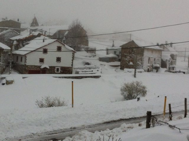 Nevada en Asturias. Somiedo