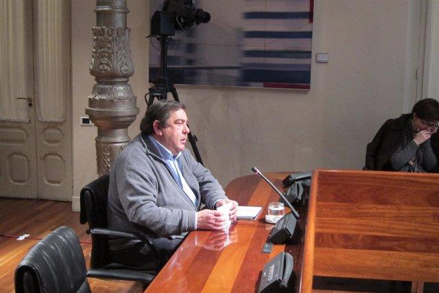 Arturo Verano, durante su declaración en la Comisión del Caso Marea.