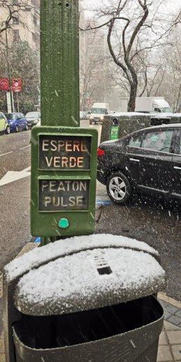 Nieve en la capital este miércoles