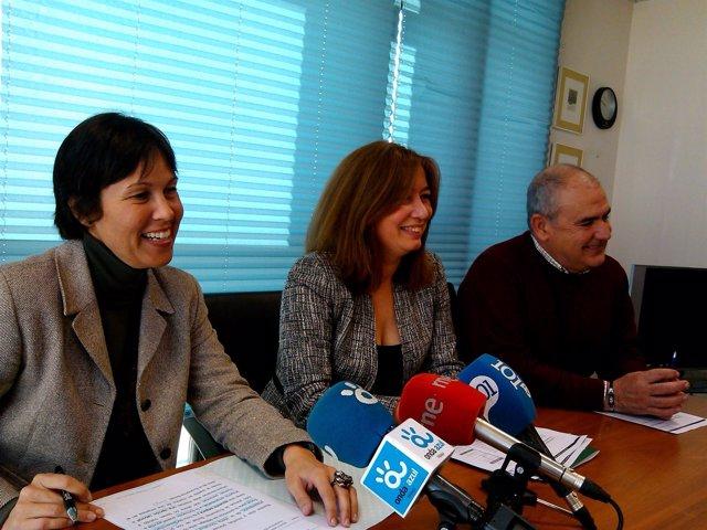 Marta Rueda, Susana Radío y Antonio Romero