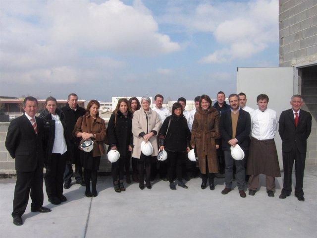 Yolanda Barcina visita las nuevas instalaciones del Grupo Maher.