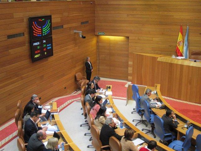 Votación en el Parlamento gallego
