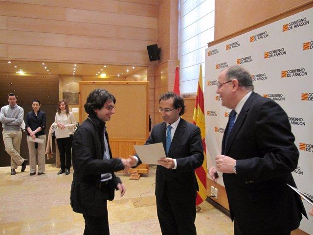 El acto se ha desarrollado en la sede del Gobierno aragonés