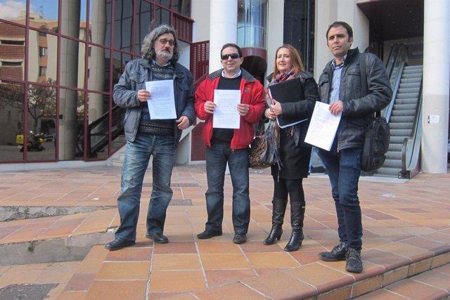 Representantes de los sindicatos STEI, UGT, CCOO y AMPE