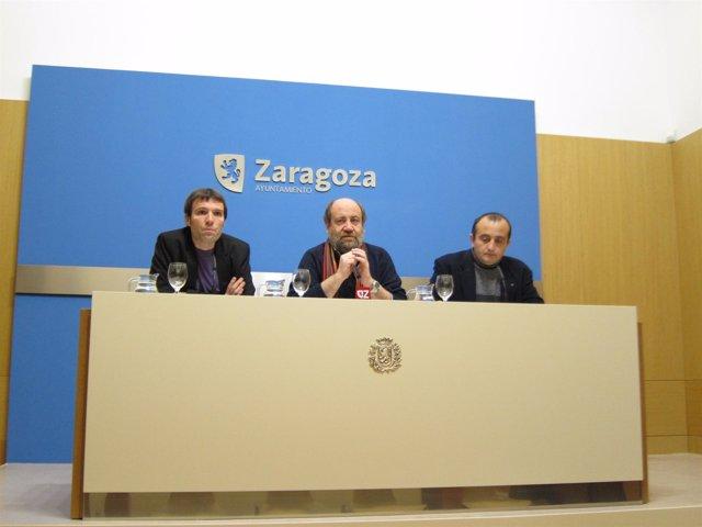 Pablo Muñoz, José Manuel Alonso y Raúl Ariza en rueda de prensa