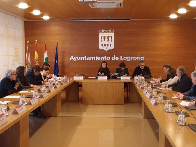 Imagen de la reunión del Consejo de Comercio de Logroño