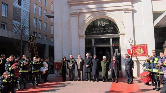 Inauguración de la celebración del 150 aniversario de los Bombeos de Zaragoza