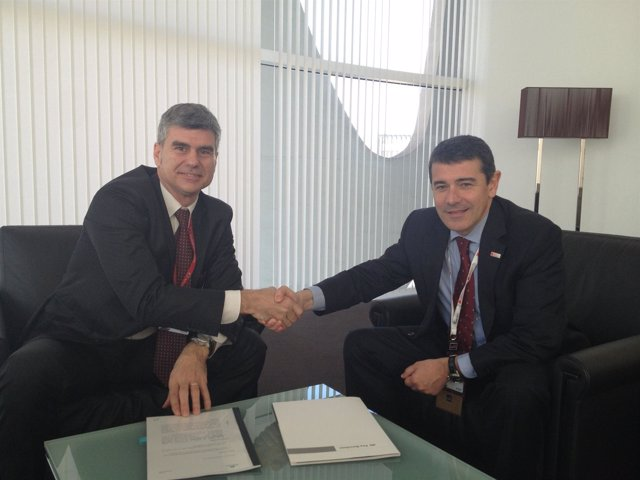Albert Buxadé (Vodafone) y Agustí Cordón (Fira)