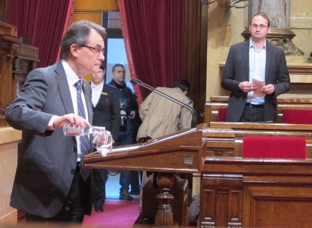 Artur Mas, en el Parlament