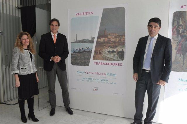 Damián Caneda, Javier Ferrer y Lourdes Moreno