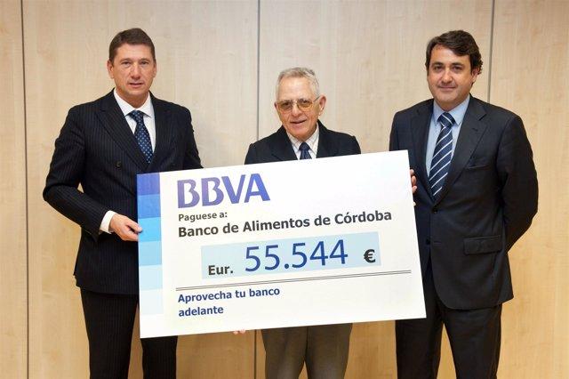 Donación del BBVA al Banco de Alimentos