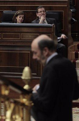Rajoy y Rubalcaba en el Debate sobre el Estado de la Nación