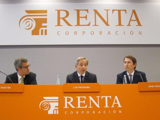 David Vila, Luis Hernández De Cabanyes Y Javier Carrasco (Renta Corporación)