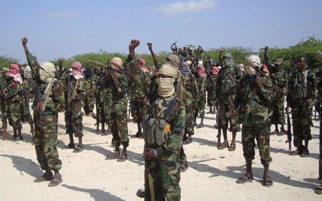 Guerrilleros somalíes de Al Shabaab