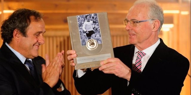 Michel Platini y Franz Beckenbauer